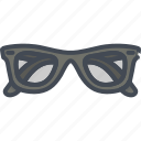 accessories, clothes, filled, glasses, outline