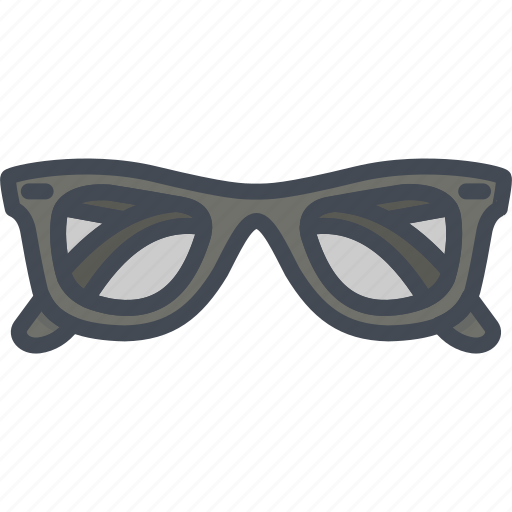 accessories, clothes, filled, glasses, outline icon