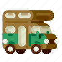 accommodation, caravan, holiday, hotel, travel, trip, vacation icon