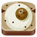 accommodation, egg, hotel, sandwich, travel, trip, vacation icon