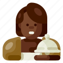 accommodation, customer, female, hotel, services, travel, vacation icon