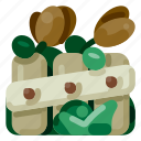 accommodation, garden, holiday, hotel, travel, trip, vacation icon