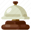 accommodation, bell, holiday, hotel, travel, trip, vacation icon