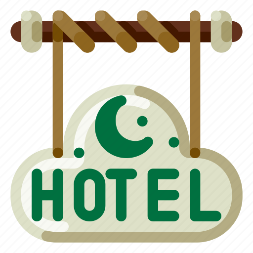 Accommodation, holiday, hotel, signage, travel, trip, vacation icon - Download on Iconfinder