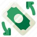 accommodation, changer, hotel, money, travel, trip, vacation icon