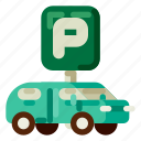 accommodation, holiday, hotel, parking, travel, trip, vacation icon