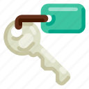 accommodation, hotel, key, room, travel, trip, vacation icon