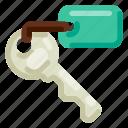 accommodation, hotel, key, room, travel, trip, vacation icon