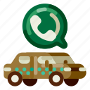 accommodation, call, hotel, taxi, travel, trip, vacation icon