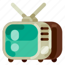 accommodation, holiday, hotel, television, travel, trip, vacation icon