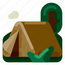 accommodation, holiday, hotel, tent, travel, trip, vacation icon