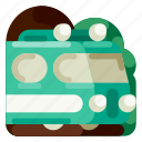 accommodation, hotel, station, train, travel, trip, vacation icon