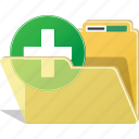 add, folder, directory, documents, new, plus