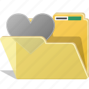 directory, favorite, folder, like, love, romance icon