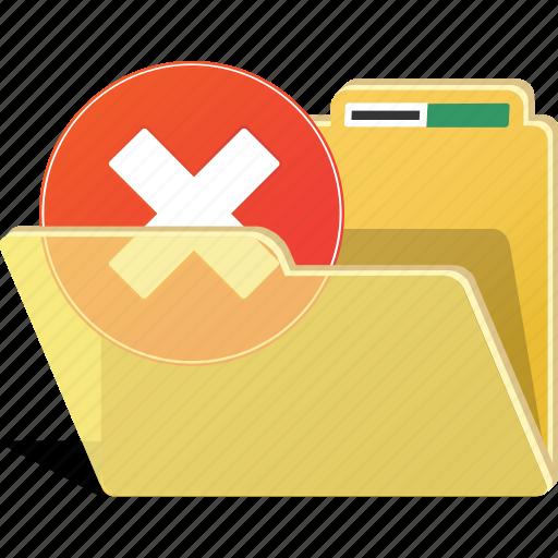delete, directory, erase, folder, forbidden, remove icon
