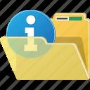 folder, warning, info, directory, storage, archive