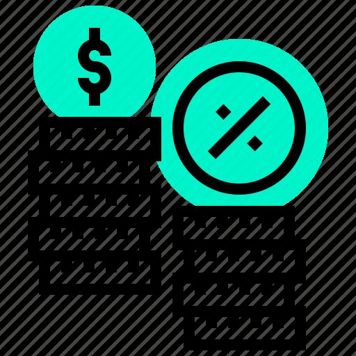 cash, interest, investment, money, tax icon