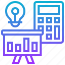 accounting, business, project, report, system icon