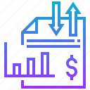 earning, income, money, salary, statement icon