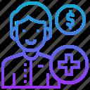 account, deposit, individual, money, personal icon