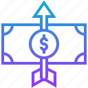 finace, increase, learning, money, value icon
