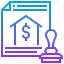bank, finance, hypothecate, loans, mortgages icon
