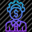 equity, owner, partner, shareholder, stockholder icon