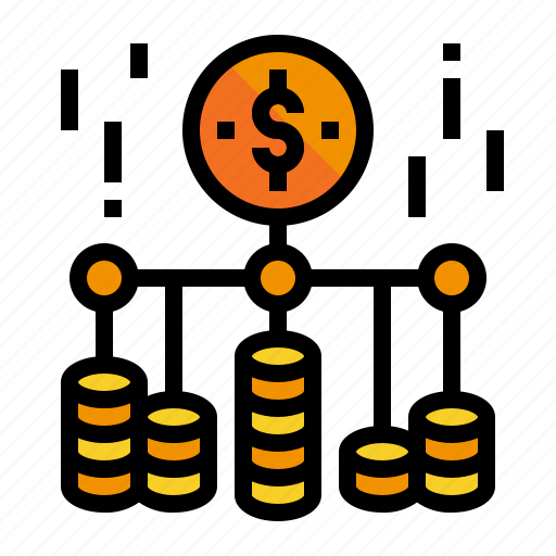 Accountion, appropriation, branch, coin icon - Download on Iconfinder