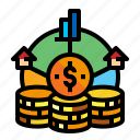 accountion, asset, coin, estate icon