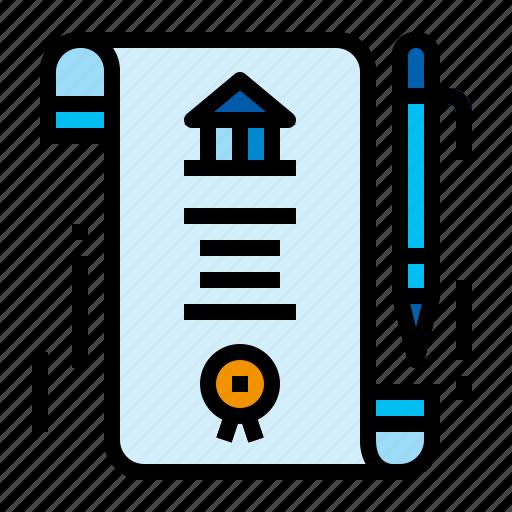 accounting, bond, obligation, recognizance icon