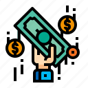 accounting, cash, money, pay icon