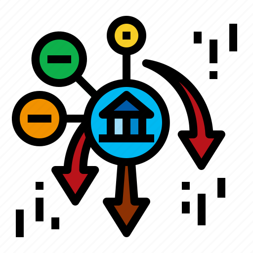 Accounting, depeiation, drop, lower icon - Download on Iconfinder