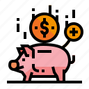 accounting, bank, deposit, piggy icon