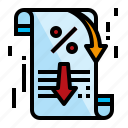 accounting, discount, percent, sale icon