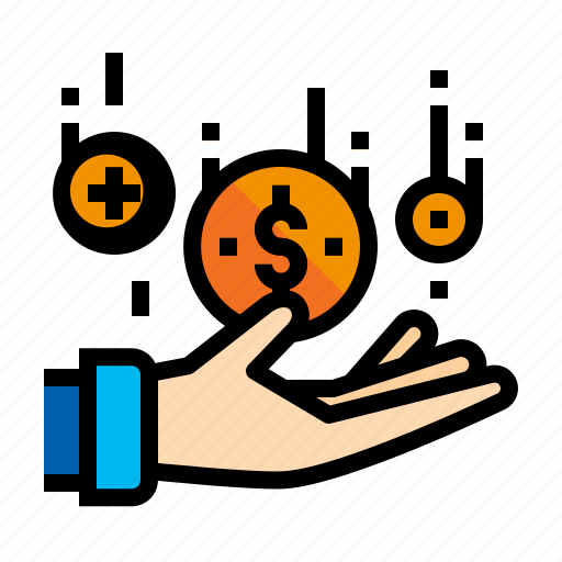 accounting, coin, earnings, money icon
