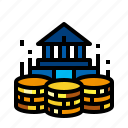 bank, coin, fund, money icon
