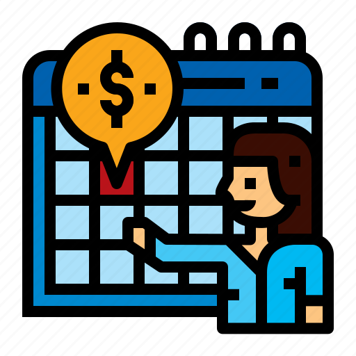 Accounting, calendar, installments, pay icon - Download on Iconfinder