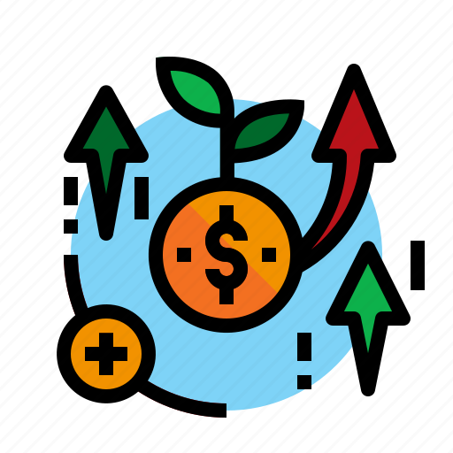 Accounting, coin, increase, interest icon - Download on Iconfinder