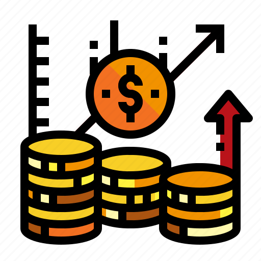 Accounting, coin, graph, investment icon - Download on Iconfinder
