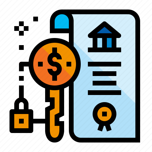 Accounting, contract, key, leasing icon - Download on Iconfinder