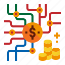 accounting, coin, income, token icon