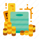 capital, coin, gold, money icon