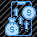 business, earning, mobile, money, smartphone