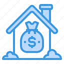 estate, house, loan, property, real, real estate icon