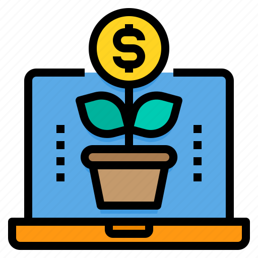 Accounting, business, finance, growth, laptop, money, profit icon - Download on Iconfinder