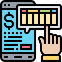 sheet, balance, accounts, application, smartphone icon