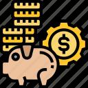 money, bank, cash, saving, funds icon