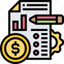 planning, business, accounting, financial, report icon