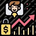 individual, trading, chart, financial, market icon