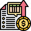 spreadsheet, trial, balance, financial, report icon